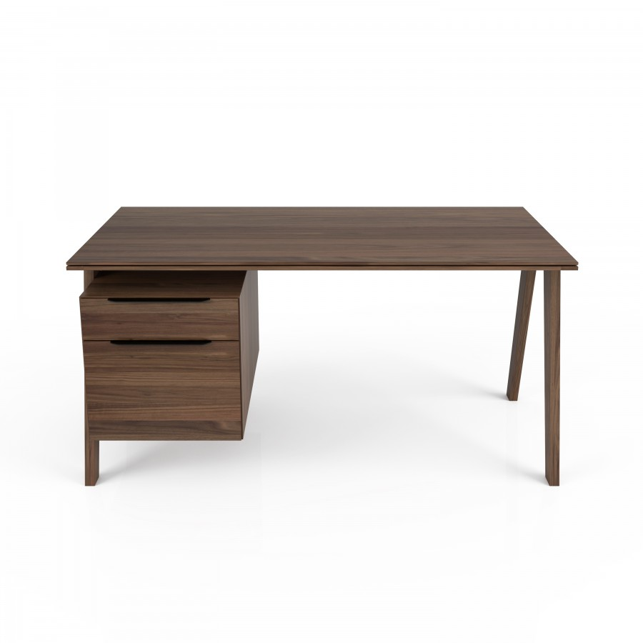 Wood top desk