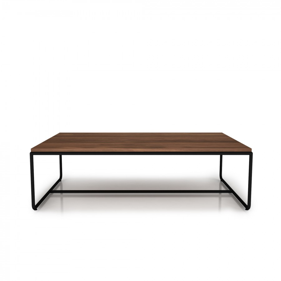 Center table with steel frame