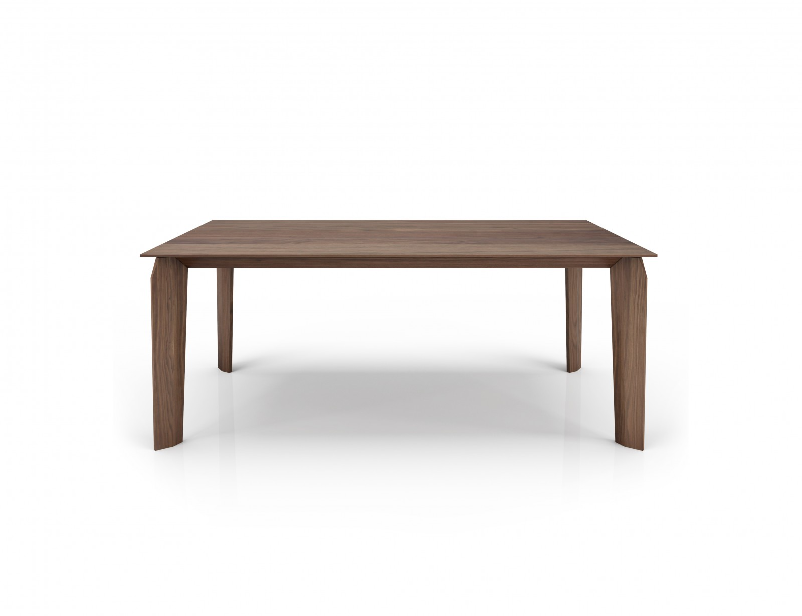 76'' walnut table